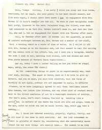 Letter from Katherine Anne Porter to George Platt Lynes, January 20, 1944
