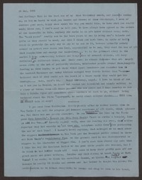 Letter from Katherine Anne Porter to Ann Holloway Heintze, May 31, 1961