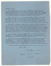 Letter from Katherine Anne Porter to Glenway Wescott, April 24, 1942
