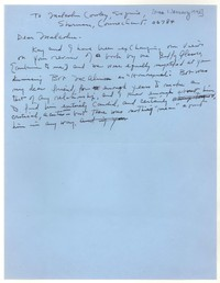 Letter from Katherine Anne Porter to Malcolm Cowley, January 01, 1972