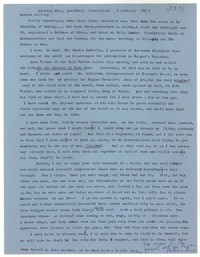 Letter from Katherine Anne Porter to Monroe Wheeler, February 01, 1957
