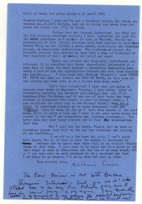 Letter from Katherine Anne Porter to Glenway Wescott, April 23, 1963