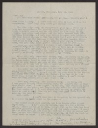 Letter from Katherine Anne Porter to Albert Erskine, July 21, 1939