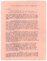 Letter from Katherine Anne Porter to William Goyen, April 19, 1951
