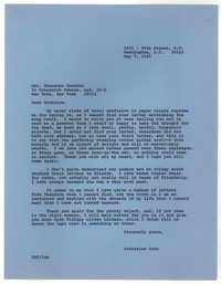 Letter from Katherine Anne Porter to Beatrice Roethke, May 07, 1965