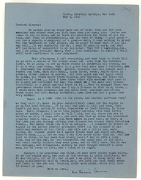 Letter from Katherine Anne Porter to Glenway Wescott, May 04, 1941
