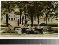 Fountain in City Park, Elyria, Ohio, 1907-1914