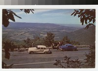 People at an overlook, Skyline Drive, Virginia, circa 1950-1969