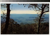 View of a village from Skyline Drive, Virginia, circa 1950-1969