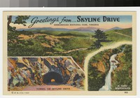 Greetings from Skyline Drive, Shenandoah National Park, Virginia, 1937
