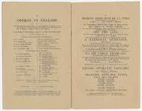 Programs and arrangements for the day for the Public Reception of Gilmore's Great American Band (22nd Regiment of New York), Crystal Palace, Tuesday, May 21, 1878