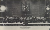 Photograph (14''x22.5'') of Gilmore's Famous 100 Piece Band, Madison Sq. Garden, June 1892. From Arthur Wise