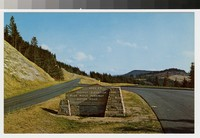 Highest point on the Blue Ridge Parkway, south of Asheville, North Carolina, 1964