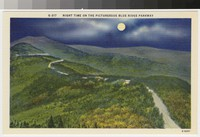 Night time on the picturesque Blue Ridge Parkway, circa 1930-1945