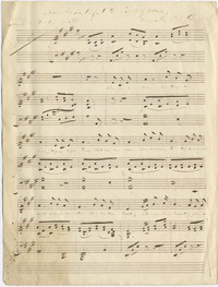 """Autograph score, """"How Beautiful the Light of Home,"""" poetry by Dexter Smith, music by P.S. Gilmore; for voice and piano. At head of title page, Mrs. Chas. O. Rich"""