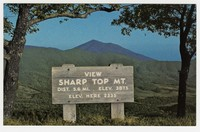 Sharp Top Mountain, Blue Ridge Parkway, Bedford County, Virginia, circa 1945-1970