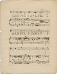 "Musical score, ""Haste Love,"" for voice and piano. Words by Minnie Gilmore, music by Alfred G. Robyn. Balmer and Weber Music House Company"