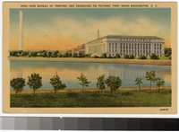 New Bureau of Printing and Engraving on Potomac Park Basin, Washington, D.C., 1938-1944