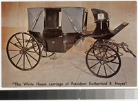 White House carriage of Rutherford B. Hayes, Rutherford B. Hayes Library, Spiegel Grove, Fremont, Ohio, 1945-1980
