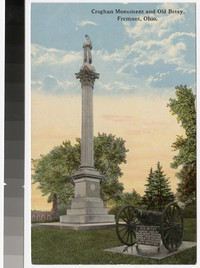 Croghan Monument and Old Betsy (cannon), Fremont, Ohio, 1908-1914