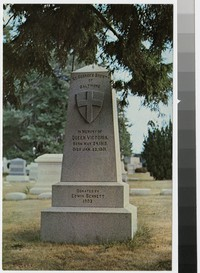 Saint George's Society of Baltimore memorial monument honoring Queen Victoria, 1981-2000