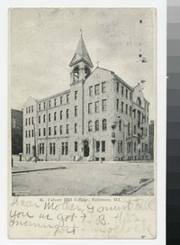 Calvert Hall College, Baltimore, Maryland, 1907