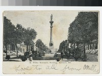 Wildey Monument, Broadway, Baltimore, Maryland, 1907-1912