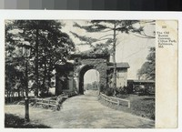 The Old Roman Gateway, Clifton Park, Baltimore, Maryland, 1907-1914