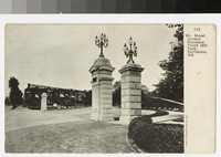 Mt. Royal Avenue entrance, Druid Hill Park, Baltimore, Maryland, 1901-1907