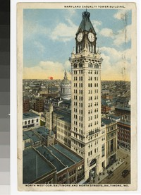 Maryland Casualty Tower Building, Baltimore, Maryland, 1915-1920