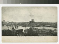 Bird's-eye view of harbor, Greater Baltimore, Maryland, 1907-1914