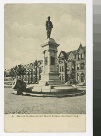 Watson Monument, Mt. Royal Avenue, Baltimore, Maryland, 1907-1908