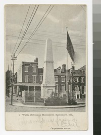 Wells-McComas Monument, Baltimore, Maryland, 1901-1907