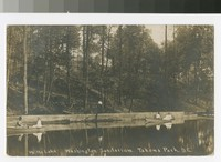 On the lake by Washington Sanitarium, Takoma Park, District of Columbia, 1907-1908