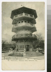 Observatory, Patterson Park, Baltimore, Maryland, 1907-1910