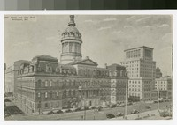 Plaza and City Hall, Baltimore, Maryland, 1930-1935