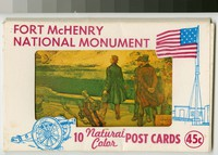 Fort McHenry National Monument, 10 natural color postcards, Baltimore, Maryland, 1968-1969