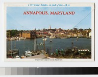 14-view folder in full color of Annapolis, Maryland, 1980-2000