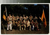 Aisquith's Sharpshooters, First Battalion, Maryland Militia reenactment, Dundalk, Maryland, 1980-1990
