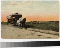 Old horse car, Block Island, Rhode Island, 1907-1914