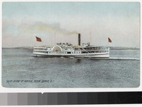 "Steamboat ""Block Island"" at harbor, Block Island, Rhode Island, 1907-1914"