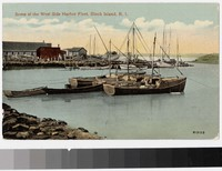 West Side Harbor Fleet, Block Island, Rhode Island, 1907-1914