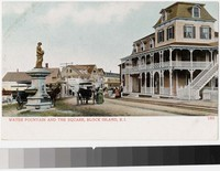 Water fountain and the square, Block Island, Rhode Island, 1901-1907