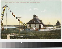 North lighthouse and life saving station, Block Island, Rhode Island, 1907-1914