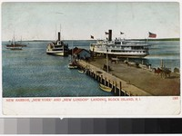 "New harbor, ""New York"" and ""New London"" landing, Block Island, Rhode Island, 1901-1906"