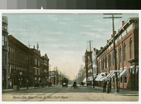 West Center Street from courthouse, Marion, Ohio, 1907-1914
