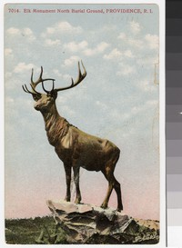 Elk Monument North Burial Ground, Providence, Rhode Island, 1907-1910