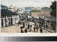 On the midway, Crescent Park, Rhode Island, 1901-1907