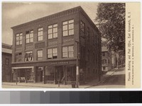 Masonic building and post office, East Greenwich, Rhode Island, 1907-1914