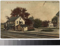 N.D., N.H. and H.R.R. station, Greene, Rhode Island, 1907-1908